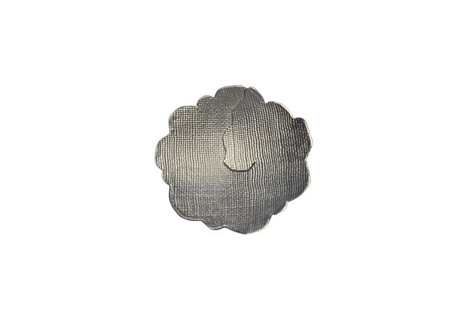 Blumenbrosche, 925/-Silber, geschmiedet