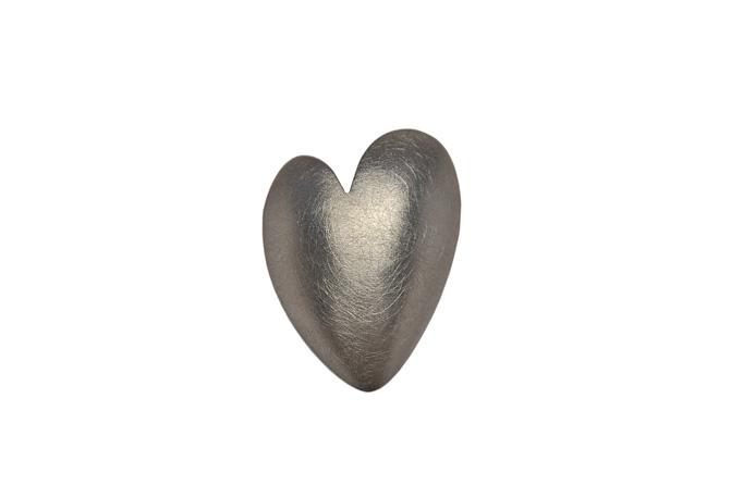 Brosche Herz, 925/-Silber, geschmiedet