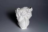 """Vase """"Mischform"""", h. 30 cm x b. 22 cm, Prozellan, innen glasiert, 2014"""