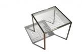 Tisch Unikat, Stahl und Glas (ESG), Foto Mareike Graf